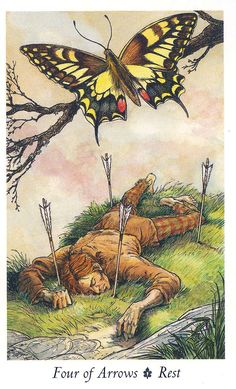 The 4 of Swords is a card that signifies a break (or need for a break) from normal life. This can also mean that you or someone in your life may withdraw for a time. This withdrawal is not likely to be permanent. It's a clear signifier to give people their space.