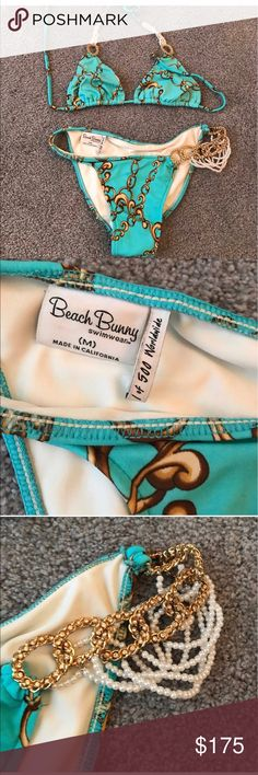 Rare Beach Bunny Bikini!!! Super Hot!!!! Was listed prior but sale was cancelled. Great one of 500 bikinis!!!! Gently worn, but always well cared for!!! It is a great suit!!!! Size medium/medium Beach Bunny Swim Bikinis