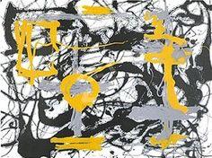 Yellow, Grey, Black by Jackson Pollock