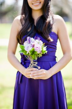 Purple colored rose and tulip #bouquet Photography: Timon And Liz Wang, Liz Wang Photography - www.lizwangphotography.com  Read More: http://www.stylemepretty.com/2014/09/02/love-in-adversity-a-real-als-story/