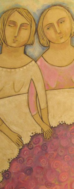 Two Girls by Joy Williams.  cropped.