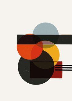 Bauhaus, Formen, Farben, Elemente, handdrawn, Digital painting, Formstudie, Artwork, avantgarde, Grafik, Dots, Kreise von maidofaustriashop auf Etsy