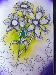 Live paint - Sketchbook - Aquarela - Flower