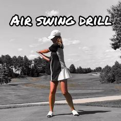 Golf Discover Air Swing Drill Great golf swing drill from Erika Larkin you can do at home or indoors. Video Golf, Golf Videos, Girls Golf, Ladies Golf, Golf Gadgets, Golf Backswing, Golf Basics, Golf Sport, Golf Tips Driving