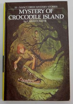 Nancy Drew #55 Mystery of Crocodile Island 1978 1st print Picture cover