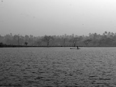 Back waters at Cherai and a boatman