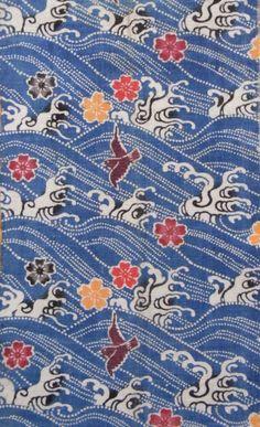 INDIGO-GROUND COTTON BINGATA ・ 木綿紅型