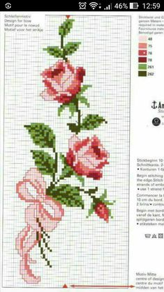 Cross Stitch Rose, Cross Stitch Flowers, Cross Stitch Patterns, Bargello, Embroidery, Floral, Crafts, Design, Cute Cross Stitch