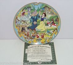 Disney Snow White Fairest of Them All Musical Collector Plate Bradford Exchange