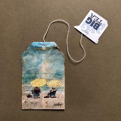 If you do, see my board Teabag Art. Tea Bag Art, Tea Art, Drawing Journal, Art Sketchbook, Sakura Painting, Watercolor Painting, Used Tea Bags, Origami Flowers, Creative Skills