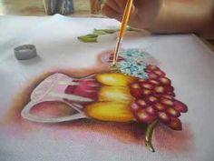 Efeito transparência  - pintura em tecido  parte 2/2- transparency effec...