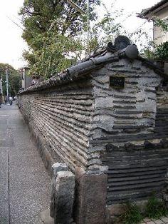 KANNONJI TEMPLE'S TSUIJI-BEI/Old mud wall  Tokyo Japan