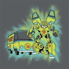 Mystery Machine Autobot - Scooby-Doo / Transformers mash-up