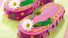 """Flip-flopping on what to serve for dessert? Create the talk of the dessert table with delicious colorful """"sandals.""""  Print out this template and use it as a guide to cutting and assembling your flip-flops."""