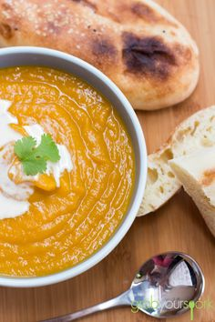 Roasted Pumpkin and Sweet Potato Soup