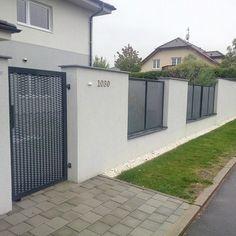Plot z tahokovu - realizace Prostějov Cast Iron Gates, Metal Gates, Metal Fences, House Names, Backyard Landscaping, Garage Doors, Landscape, Architecture, Garden