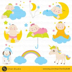 Baby dream vector - Digital Clipart - Instant Download - EPS, PNG files included - FREE Small Commercial Use by ChenStudio88 on Etsy https://www.etsy.com/listing/239739377/baby-dream-vector-digital-clipart