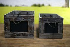 Vintage Style Timber Blackboard Storage Crates. BRAND NEW. 2 Sizes