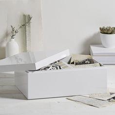 White Lacquer Storage Box | The White Company