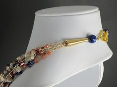 Crocheted Necklace with Artistic Wire Terminals made with Conetastic™ by Sandra Lupo