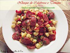 Nhoque com Calabresa e Tomates - Italian Sausage and Tomato Gnocchi