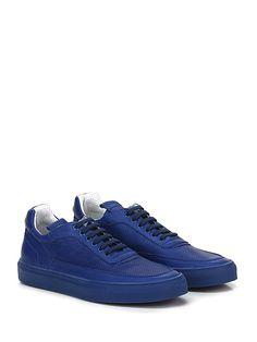 Mariano Di Vaio - Sneakers - Uomo - Sneaker in pelle e pelle micro forata con suola in gomma. Tacco 25. - BLUETTE - € 210.00