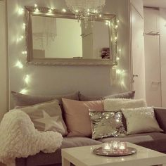 Hanging lights are a perfect addition to a room, no matter what time of year!
