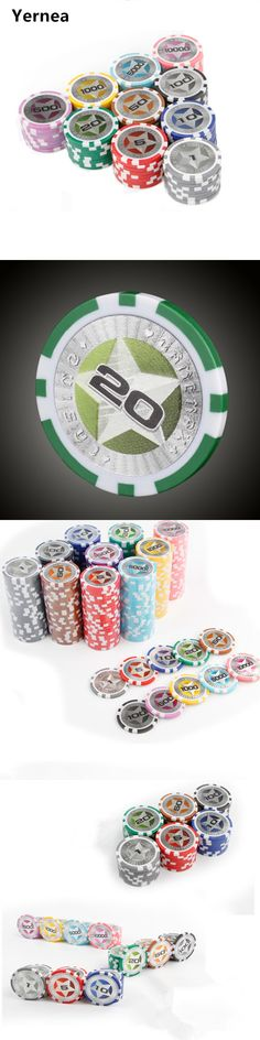 20PCS/Lot Poker Plastic Chip Set Customize The Pokers Chips Game 12g Baccarat High Texas Hold'em Chips Set Poker Cards Yernea
