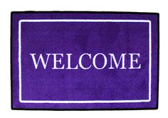 "Purple ""Welcome"" Door Mat from The Purple Store!"