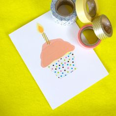 washi tape cupcake . . .    my shop is going to need some cute art. . .