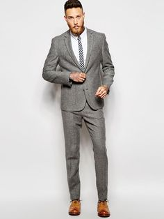 Latest Coat Pant Designs Grey Tweed Wedding Suits for Men Stylish Men Suit Casual Terno Slim Fit Skinny 2 Piece Tuxedo Masculino Fashion Moda, Suit Fashion, Mens Fashion, Tweed Suits, Mens Suits, Suit Men, Grey Tweed Wedding Suit, Terno Slim Fit, Slim Suit