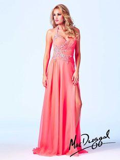 Coral Prom Dress | Mac Duggal 64833A