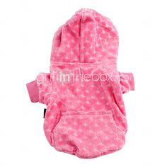 Pink Heart Comfort Hoodie for Dogs