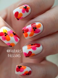 Tropical Flower Nails  Chantal, can you do these????  Free Nail Technician Information  http://www.nailtechsuccess.com/nail-technicians-secrets/?hop=megairmone