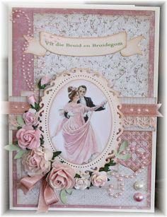 Wedding Card by Scrappinmad-Karien: Vir die Bruid en Bruidegom