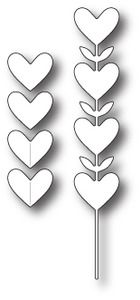*Simon Says Stamp HEART FLOWERS Craft DIE s226