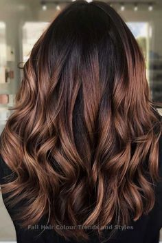 Trendy Brown Ombre Variations Red Wood ❤ Ombre fall hair colors look be. Trendy Brown Ombre Variations Red Wood ❤ Ombre fall hair colors look best when combined co Ombre Hair Color For Brunettes, Brown Ombre Hair, Brown Hair Balayage, Brunette Color, Hair Color Balayage, Hair Highlights, Balayage Hair Brunette Caramel, Bayalage On Dark Hair, Black Hair With Ombre