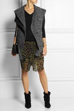 Isabel Marant|Estelle wool-blend tweed gilet