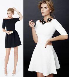 vestidos de Blanco otoño invierno 2014 2015