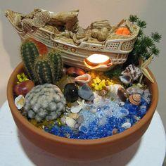 33 Miniature Garden Designs, Fairy Gardens Defining New Trends in Container Gardening-seaside gardening