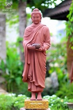 Great Master Buddha with the begging bowl on his way to collect alms