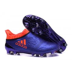 separation shoes 9ab26 a3768 Acquistare 2016 Adidas X 16 Purechaos FG AG Scarpe da calcio Viola Arancia