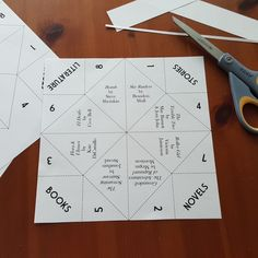 Or do you call them Cootie-Catchers? One and the same, my friend. The point is, here's an idea to help patrons figure out what to read next....