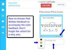Great new free feature. Text feedback and the unlock so students can re-try their answer.