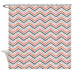 MOD Home Greek Key Orange Shower Curtain | Greek key, Key and Bath