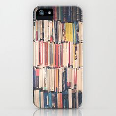 iPhone 5 Case, iPhone 5, Iphone 4, Samsung Galaxy SII, S3, Girly, books, geek, hipster, vintage, book, literature, writer, red. $45.00, via Etsy.