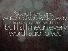 he will try to talk away my pain  and he just might make me smile  but the whole time im wishin it was you instead  -haunted