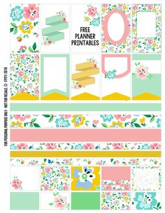 Free Floral Planner Stickers {Page One} from Free Pretty Things for You