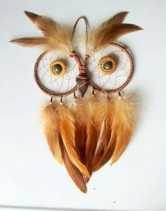 Owl dream catcher! How cute!