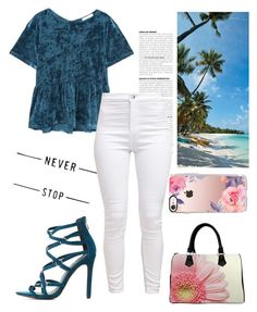 """The Sky's The Limit"" by kyra-leee on Polyvore featuring Charlotte Russe, MANGO and Casetify"